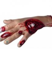 Halloween decoratie hand met bloed