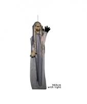 Halloween decoratie pop grijs 360 cm