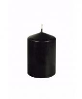 Halloween decoratie stompkaars zwart 10 cm hoog