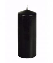 Halloween decoratie stompkaars zwart 18 cm hoog