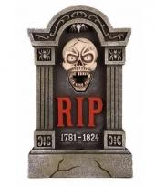 Halloween grafsteen met knipperende ogen