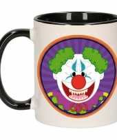 Halloween halloween horror clown mok beker 300 ml