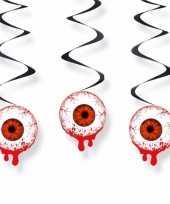 Halloween hangdeco oogbollen 3 stuks