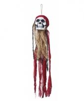Halloween hangdecoratie piraat schedel 90 cm