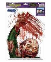 Halloween raamstickers zombie met bloed