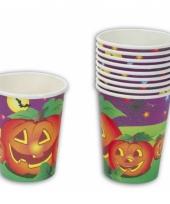 Halloween thema bekers 10 stuks