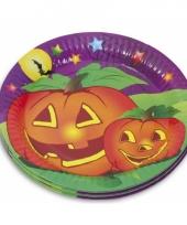 Halloween thema bordjes 10 stuks