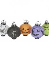 Halloween thema lampionnen 5 stuks