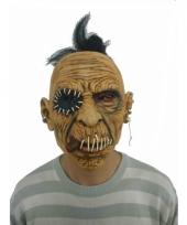Halloween thema masker enge man met dichtgenaaide mond