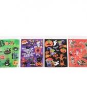 Halloween vensterdecoratie stickers 1 groen vel