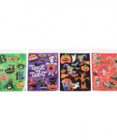 Halloween vensterdecoratie stickers 1 paars vel