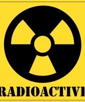 Halloween versiering radioactief gevaren sticker 10 5