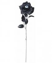 Halloween zwarte roos met oog