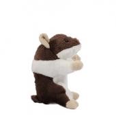 Hamster knuffelbeest 13 cm bruin