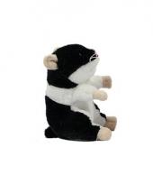 Hamster knuffelbeest 13 cm zwart