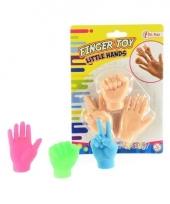 Handjes voor op vingers gekleurd