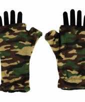 Handschoenen zonder vingers camouflage voor volwassenen