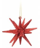 Hangdecoratie 3d ster rood