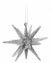 Hangdecoratie 3d ster zilver