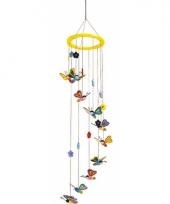 Hangdecoratie mobiel voor kinderen met vlinders 80 cm