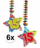 Hangdecoratie verjaardag 15 jaar 10126758