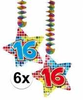 Hangdecoratie verjaardag 16 jaar 10126492