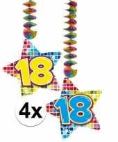 Hangdecoratie verjaardag 18 jaar 10126494