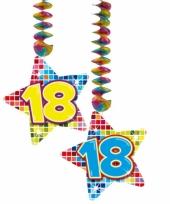 Hangdecoratie verjaardag 18 jaar