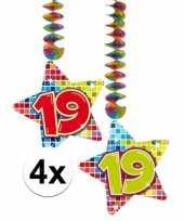 Hangdecoratie verjaardag 19 jaar 10126763
