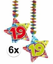 Hangdecoratie verjaardag 19 jaar 10126764