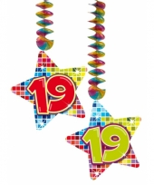 Hangdecoratie verjaardag 19 jaar