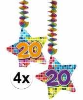 Hangdecoratie verjaardag 20 jaar 10126765