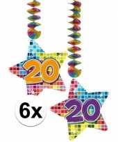Hangdecoratie verjaardag 20 jaar 10126766