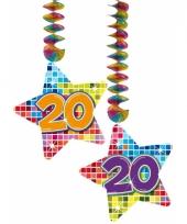 Hangdecoratie verjaardag 20 jaar