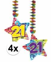 Hangdecoratie verjaardag 21 jaar 10126768