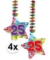 Hangdecoratie verjaardag 25 jaar 10126446