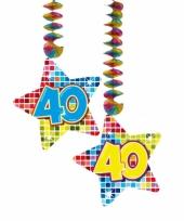 Hangdecoratie verjaardag 40 jaar