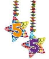 Hangdecoratie verjaardag 5 jaar