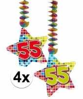 Hangdecoratie verjaardag 55 jaar 10126775