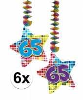 Hangdecoratie verjaardag 65 jaar 10126461