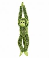 Hangende groene aap knuffels 84 cm