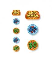 Hangslinger verjaardag 30 jaar blauw oranje