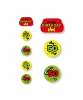 Hangslinger verjaardag 50 jaar geel groen