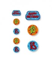 Hangslinger verjaardag18 jaar blauw oranje