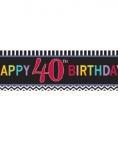 Happy 40th birthday banner 165 cm