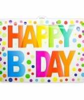 Happy birthday deurbord 52 cm