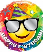 Happy birthday folieballon 45 cm met helium 10089052