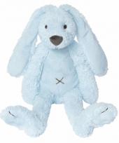 Happy horse knuffel konijn blauw 28 cm