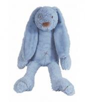 Happy horse knuffel konijn donkerblauw 28 cm