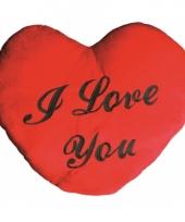 Hartvormige kussen i love you 60 cm